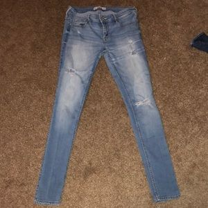 Hollister ripped low rise jeans